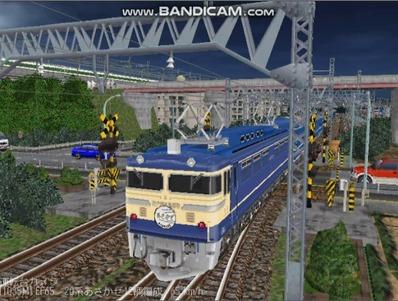 越河レイアウト夜汽車シリーズ13-EF65-500あさかぜ1