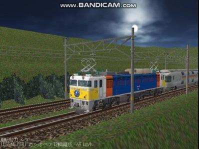 越河レイアウト夜汽車シリーズ5-EF8189カシオペア3