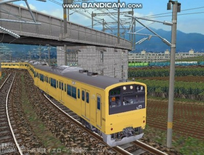 越河レイアウト電車シリーズ71-201系総武線カナリア6