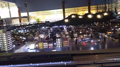 ジオラマ京都HOゲージ夜景その5