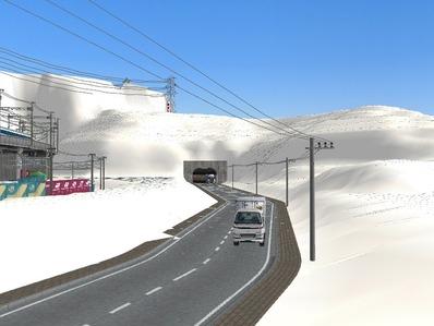 仮想日本海縦幹線雪景色国道制作10