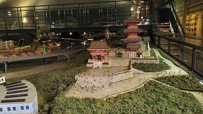 ジオラマ京都HOゲージ右側清水寺4
