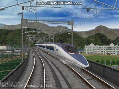 越河レイアウト東北新幹線500系のぞみ4