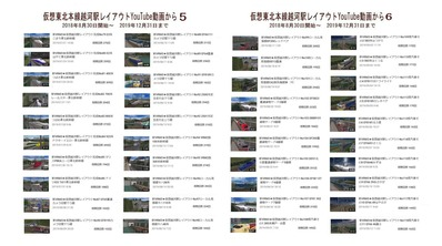 仮想越河駅レイアウトYouTube動画リスト表5-6