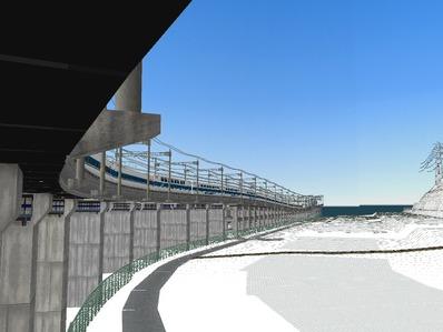 仮想日本海縦幹線雪景色制作11