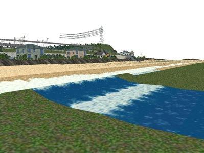 5編成並走見張線海岸線砂浜12