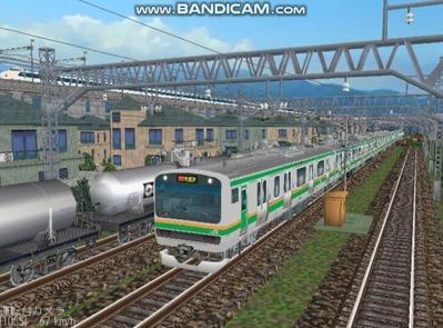 越河レイアウト電車シリーズ75-E231系近郊電車1