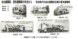 蒸気機関車イラスト資料1