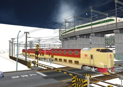 仮想日本海縦幹線雪景色285系サンライズ2