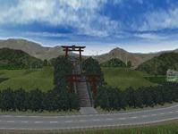 越河駅レイアウト山ノ上神社1