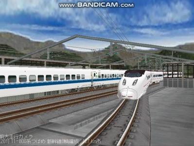 越河レイアウト東北新幹線800系つばめ8