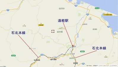 石北本線遠軽駅地図3