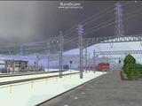 北の貨物駅通過中EF81-13-3