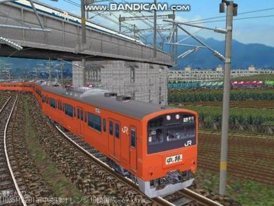 越河レイアウト電車シリーズ69-201系中央線オレンジ中特6