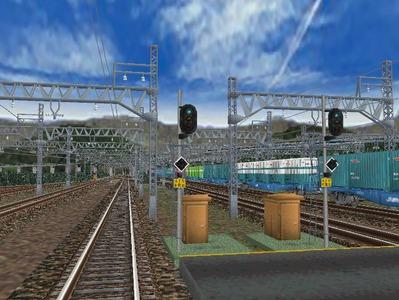 白石駅構内上り出発信号機3