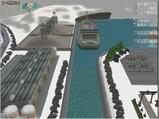 雪景色完成その24 コンテナ埠頭線上空2