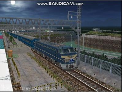 越河レイアウト夜汽車シリーズ11-EF6645富士6