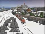 雪景色完成その22 DE10重連2
