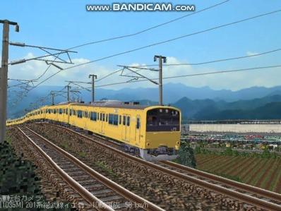 越河レイアウト電車シリーズ71-201系総武線カナリア5