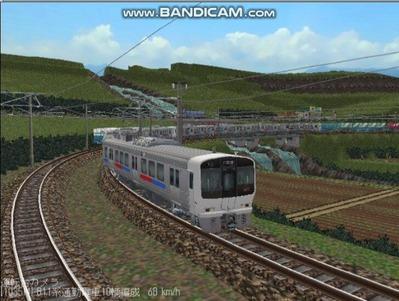 越河レイアウト電車シリーズ67-811系JR九州電車6