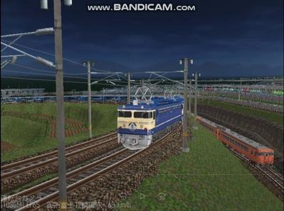 越河レイアウト夜汽車シリーズ14-EF65-500富士3
