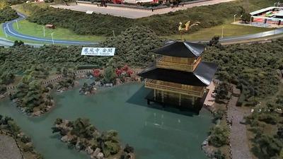 ジオラマ京都HOゲージ右側奥11金閣寺