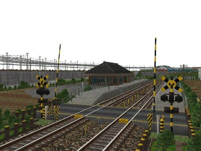 5編成並走見張分線A駅踏切3