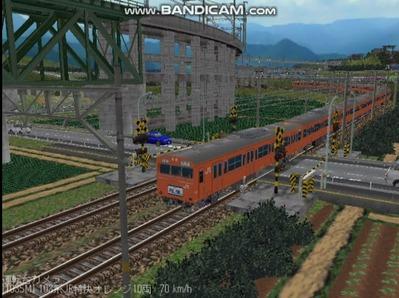 越河レイアウト103シリーズ100-103系J特快高運転台オレンジ色7
