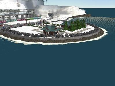 仮想日本海縦幹線雪景色海岸線完成5