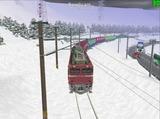北の貨物駅通過中EF81-37-5