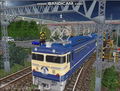 越河レイアウト夜汽車シリーズ14-EF65-500富士1
