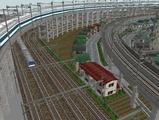 3欲張り新幹線レイアウト踏切道部分93
