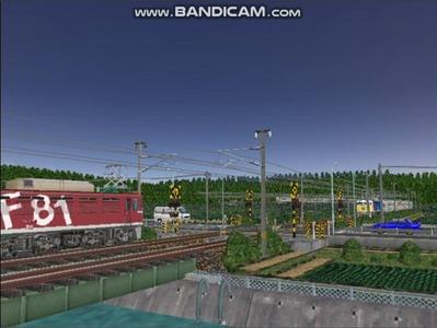 VRM3版気越河東北本線越河踏切背景2スッキリ夜空