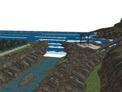 5編成並走見張線海岸線岩礁10