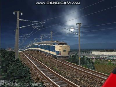 越河レイアウト夜汽車シリーズ3-583系はくつる3