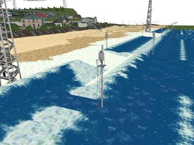 5編成並走見張線海岸線海面作り3