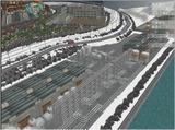雪景色完成その24 コンテナ埠頭線上空7