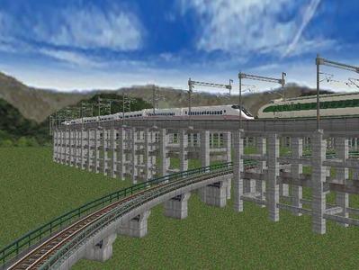 新幹線本線部分制作途中2
