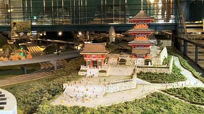 ジオラマ京都HOゲージ右側清水寺5