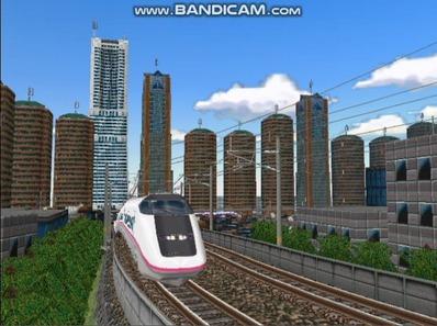 新幹線勾配区間走行E3系こまち-1