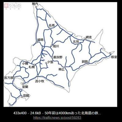 JR北海道の路線図3