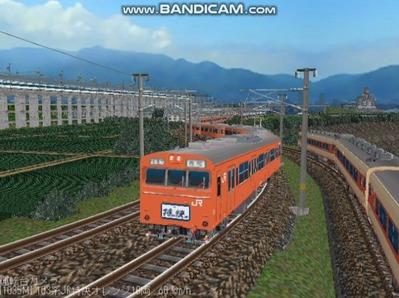 越河レイアウト103シリーズ100-103系J特快高運転台オレンジ色2