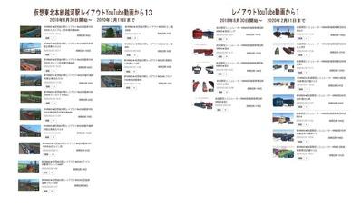 仮想越河駅レイアウトYouTube動画リスト表13-車両編成