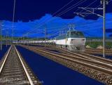 EF66-101月明り雪景色6.