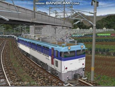 越河レイアウトカメラ切替貨物ヤード7-EF81-502-6
