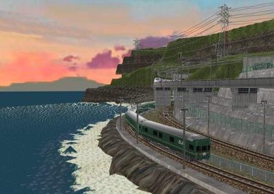 仮想日本海縦幹線日本海夕暮れ8トワイライト4
