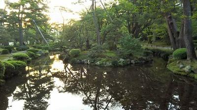 兼六園曲水その7霞が池蓬莱島