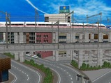 3欲張り新幹線レイアウト踏切道部分78