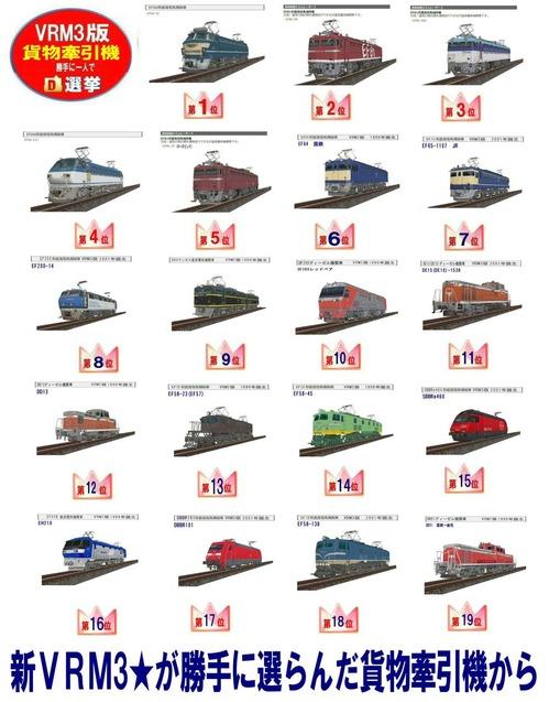 貨物牽引機総選挙1