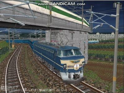 越河レイアウト夜汽車シリーズ8-EF66-46みずほ4